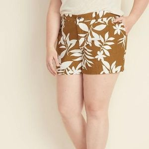 Mid-Rise Plus-Size Everyday Linen-Blend Shorts